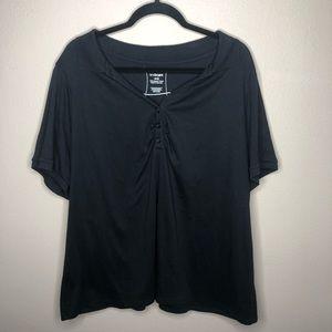 Black Lane Bryant Blouse Size 26/28